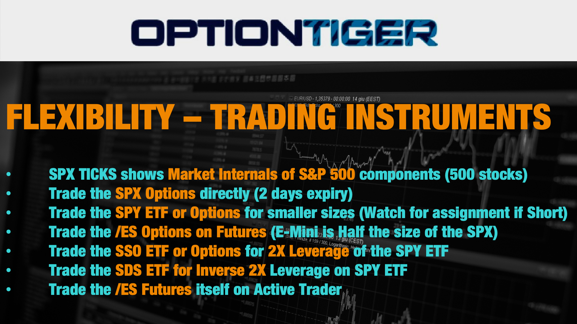 SPX Intraday trading instruments